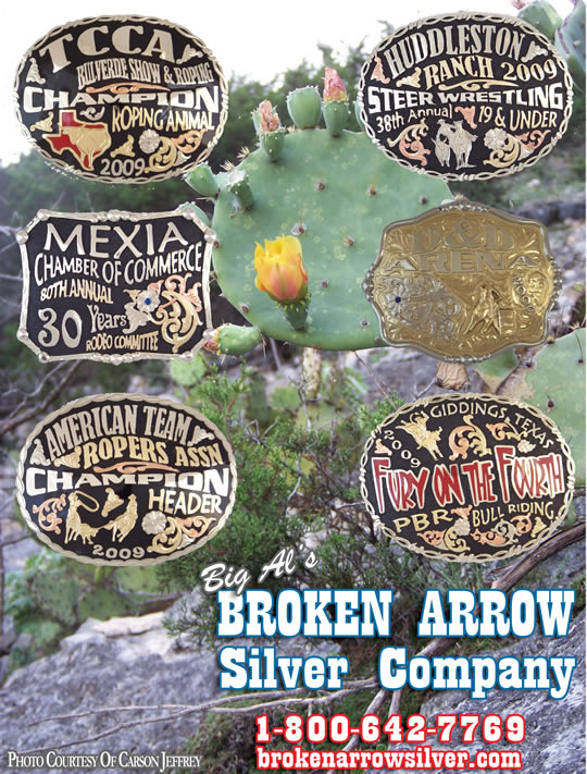 The latest Rodeo Belt Buckles from Broken Arrow Silver Company