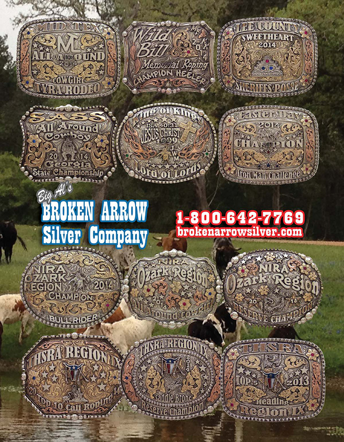 The lastest custom Rodo Buckle designs by Broken Arrow Silver