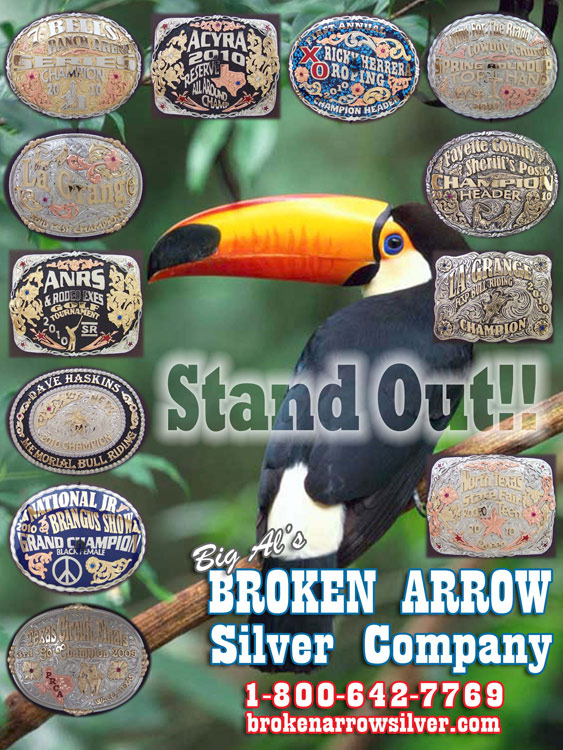 Stand out with Rodeo Belt Buckles from Broken Arrow Silver