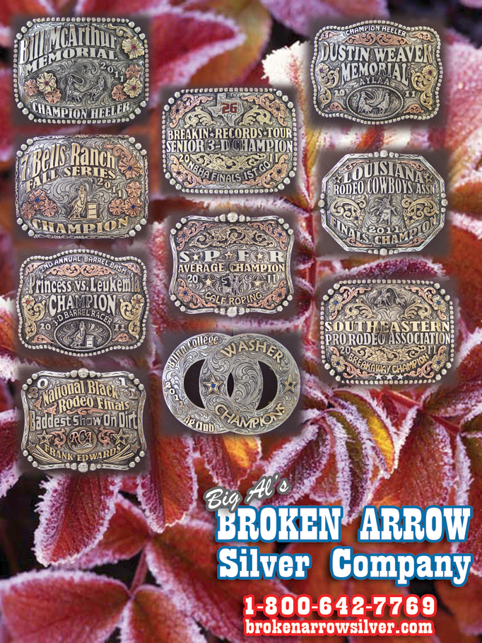 December 2011 Broken Arrow Silver - Rodeo Buckles, Custom Trophy Buckles