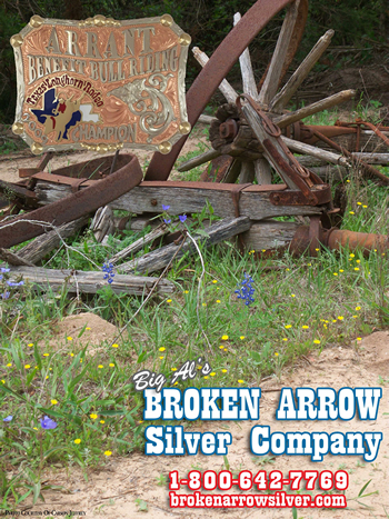Merry Christimas from Broken Arrow Silver Company, Rodeo Belt Buckles, Custom Trophy Awards